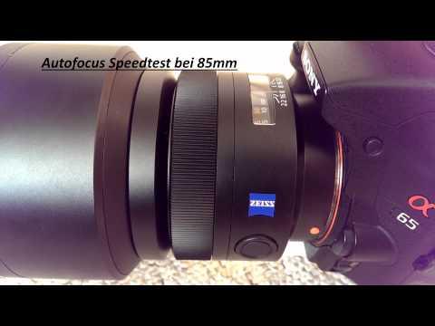 Autofocus Speedtest Sony SAL-85F14Z F1,4 / 85mm Carl Zeiss Planar T*