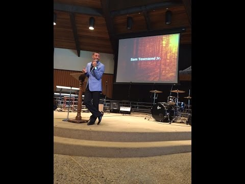 Sam Townsend speaks and sings at Warner Pacific Chapel (Sept 30, 2014)