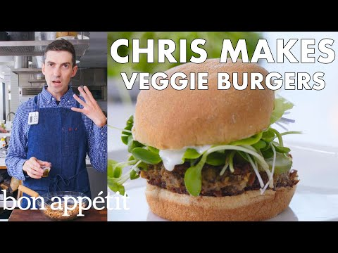 Chris Makes Veggie Burgers | From the Test Kitchen | Bon Apptit