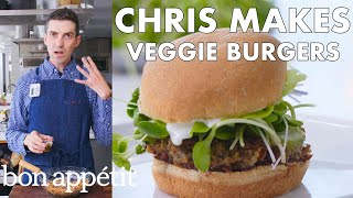Chris Makes Veggie Burgers | From the Test Kitchen | Bon Appétit