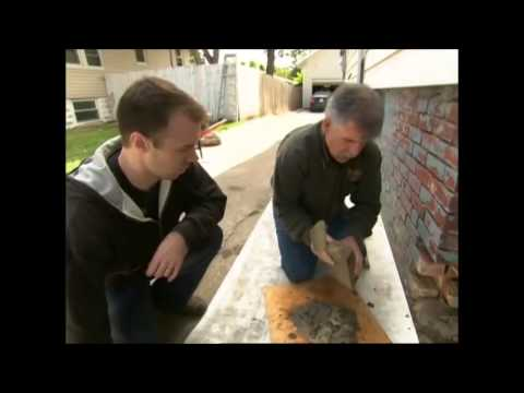 Ask This Old House - Tuckpointing a brick foundation