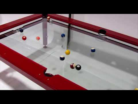 G-4 Glass Top Pool Table, By Elite Innovations