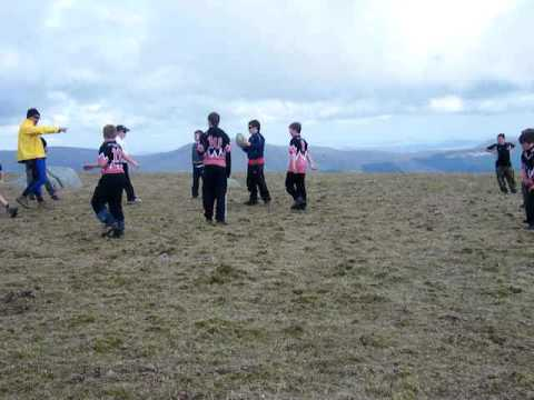Ayr P7's Playing Rugby on the Summit of The Merrick