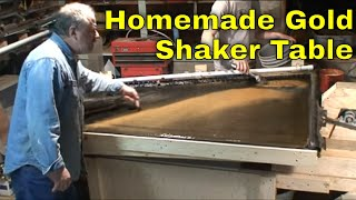 Mbmmllc.com: Prototype Shaker Table Demo, Hardrock And Placer Gold Concentration