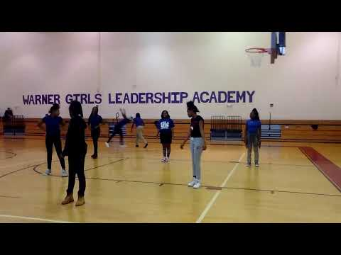 Warner girls leadership academy we all were practicing step
