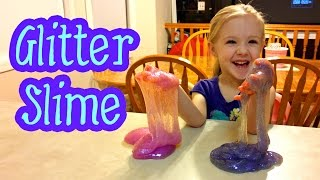 How to Make Super Stretchy Glitter Slime the Right Way!