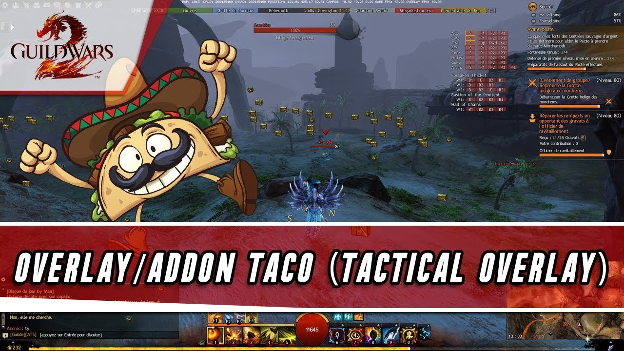Guild Wars 2 - Overlay TACO (Addon TACtical Overlay)