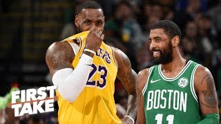 Stephen A. Smith and Max Kellerman agree that the Boston Celtics GM Danny Ainge must go all in to keep Kyrie Irving in the summer. However, if Ainge tries to get cute with Kyrie are reunion with LeBron James on the Los Angeles Lakers is possible.  ✔ Subscribe to ESPN on YouTube: http://es.pn/SUBSCRIBEtoYOUTUBE ✔ Subscribe to ESPN FC on YouTube: http://bit.ly/SUBSCRIBEtoESPNFC ✔ Subscribe to NBA on ESPN on YouTube: http://bit.ly/SUBSCRIBEtoNBAonESPN ✔ Watch ESPN on YouTube TV: http://es.pn/YouTubeTV  ESPN on Social Media: ► Follow on Twitter: http://www.twitter.com/espn ► Like on Facebook: http://www.facebook.com/espn ► Follow on Instagram: http://www.instagram.com/espn  Visit ESPN on YouTube to get up-to-the-minute sports news coverage, scores, highlights and commentary for NFL, NHL, MLB, NBA, College Football, NCAA Basketball, soccer and more.   More on ESPN.com: http://www.espn.com
