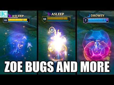 ZOE MORE BUGS - GLITCHES AND CHAMPION INTERACTIONS - League of Legends (ft Eldimarix)
