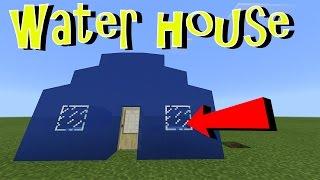 WATER HOUSE in MCPE !!! No Mod, No Addon, No Command Block | Minecraft PE 1.1 Trick
