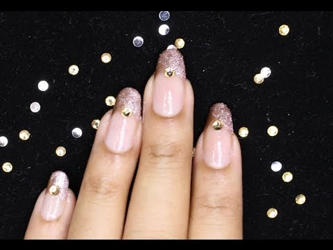 How To Easy Glitter Nail Art
