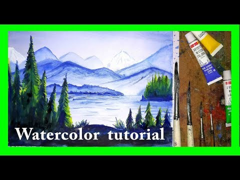 watercolor painting with drawing academy