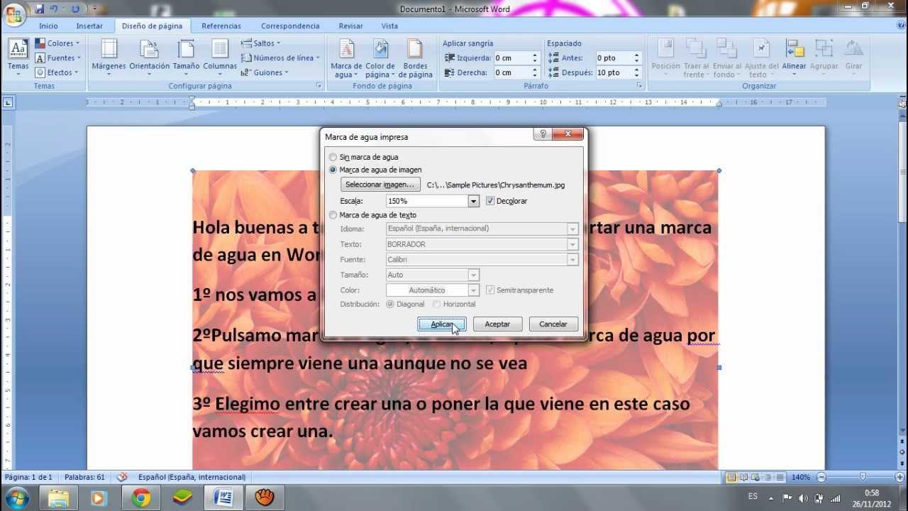 Hacer Marca De Agua En Word 2007