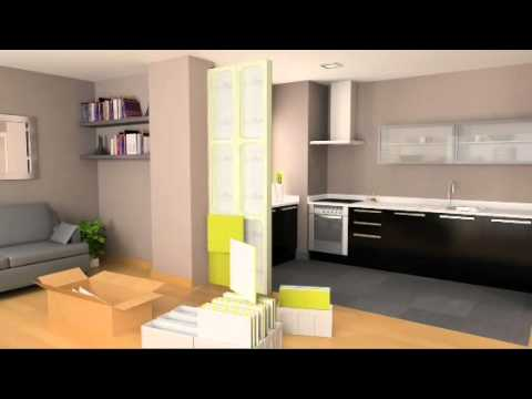 montage d 39 une cloison nomade youtube. Black Bedroom Furniture Sets. Home Design Ideas