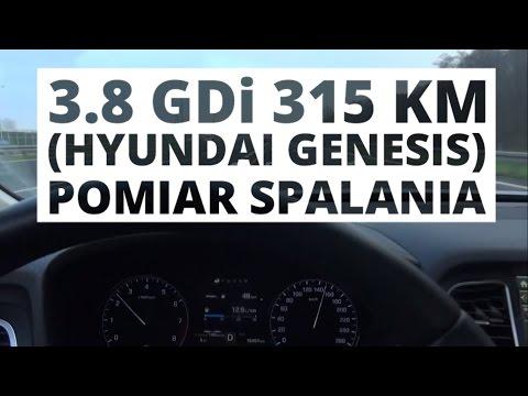 Hyundai Genesis 3.8 V6 GDI 315 KM AT pomiar spalania