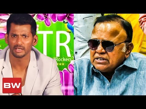 Show who is Tamilrockers ? : Radha Ravi Demands Vishal