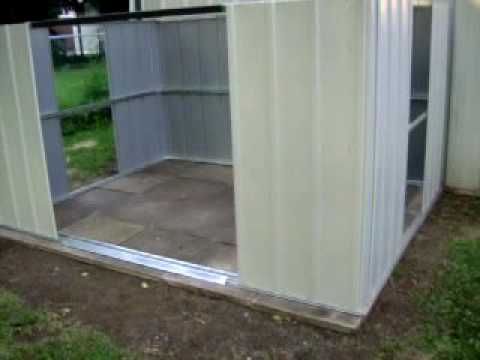 Arrow Metal Shed Build Day 1 Youtube
