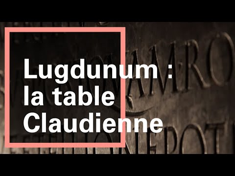 La table claudienne - Musée gallo-romain