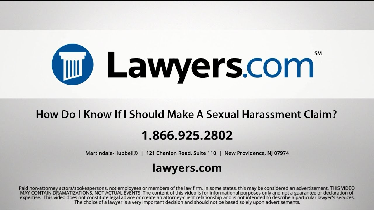Sexual Harassment FAQs for Employees - Lawyers com