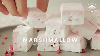 딸기 마시멜로우 만들기 : Strawberry Marshmallow Recipe : いちごマシュマロ  Cooking tree