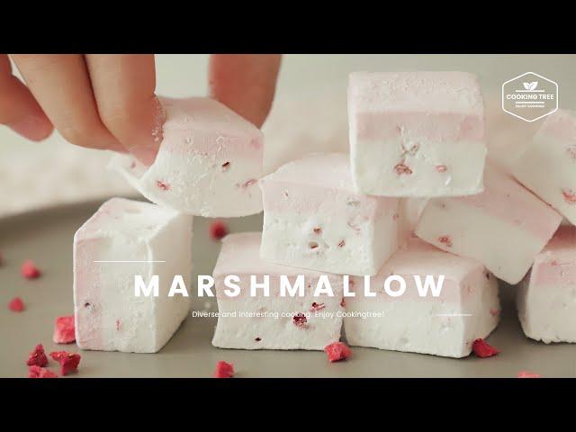 딸기 마시멜로우 만들기 : Strawberry Marshmallow Recipe : いちごマシュマロ | Cooking tree