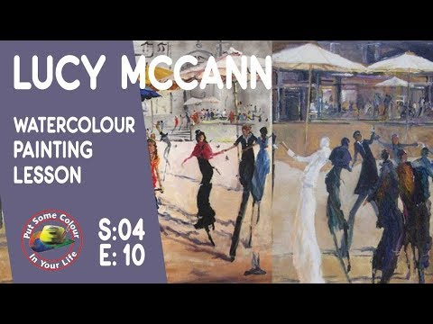 Fine art tips with a Fantastic Watercolour Painting Lesson with Lucy McCann on Colour In Your Life