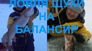ЛОВЛЯ ЩУКИ НА БАЛАНСИР ЗИМОЙ 11.01.2015 г. 6.15кг!!! кайф