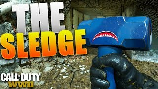 the *NEW* SLEDGEHAMMER in COD: WWII.. (COD: WW2 NEW DLC WEAPONS) #FaZe5