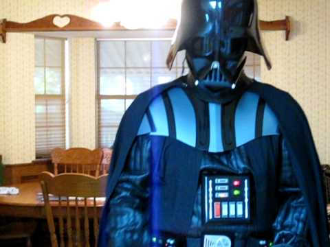 Darth Vader Rubies Costume For Halloween 2009 Youtube