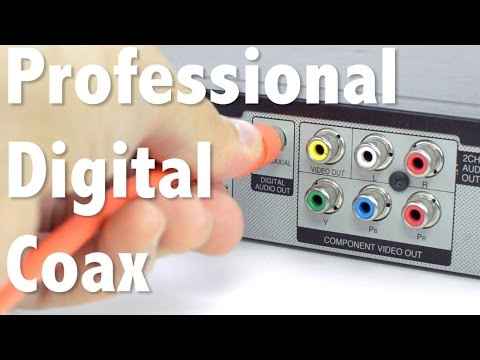 Professional S/PDIF Digital Coax Cable - High Quality Audio For Your Home Theater