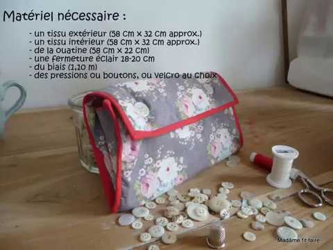 tutoriel pour coudre une trousse pochette soufflet youtube. Black Bedroom Furniture Sets. Home Design Ideas