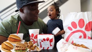 CHICK FIL A MUKBANG * telling my son how me & his mom met *