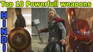 Top 10 Powerful weapons in mcu  | Mcu weapons | Captainthor | Hindi