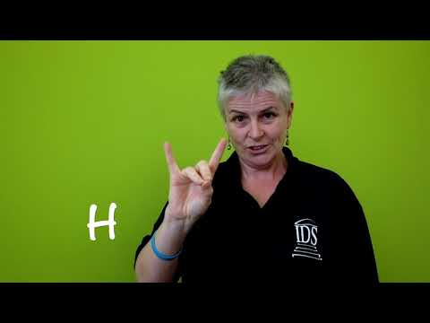 ABC In Irish Sign Language