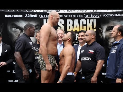 HE'S BACK!!!! - TYSON FURY v SEFER SEFERI - *FULL & UNCUT* OFFICIAL WEIGH-IN / THE MACK IS BACK
