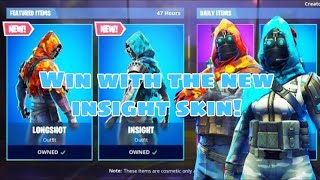 Fortnite Battle Royale Win with the new skin insight
