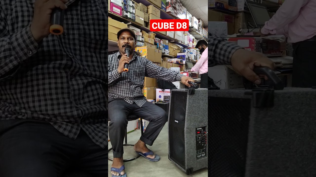 BHARAT ELECTRONICS BEST TROLLEY SPEAKERS DOUBLE 8 INCH PRICE-5500 WITH CODELESS MIC