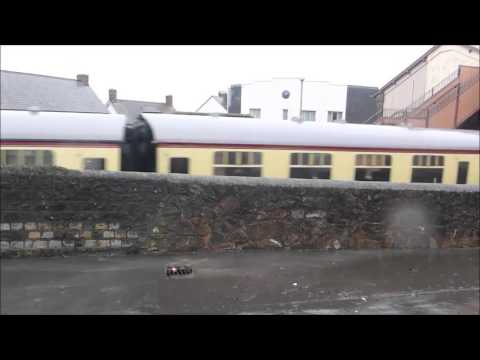 FLOODING AT WATCHET STATION WEST SOMERSET RAILWAY 3 JANUARY 2016