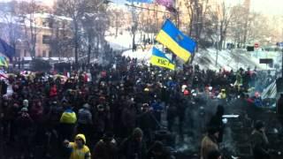 Революция в Украине Съёмка с линии огня