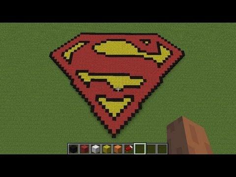 Minecraft Superman Pixel Art Build Youtube