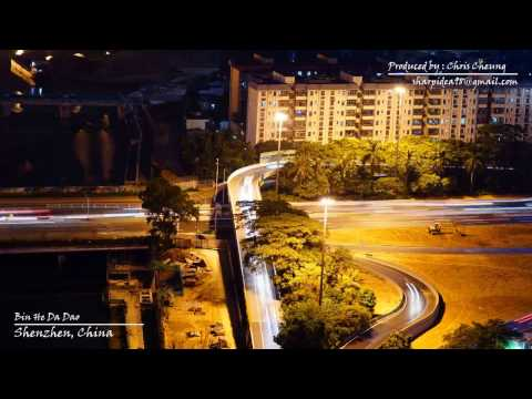 4K Time Lapse Video - The Night Scene of Shenzhen, China