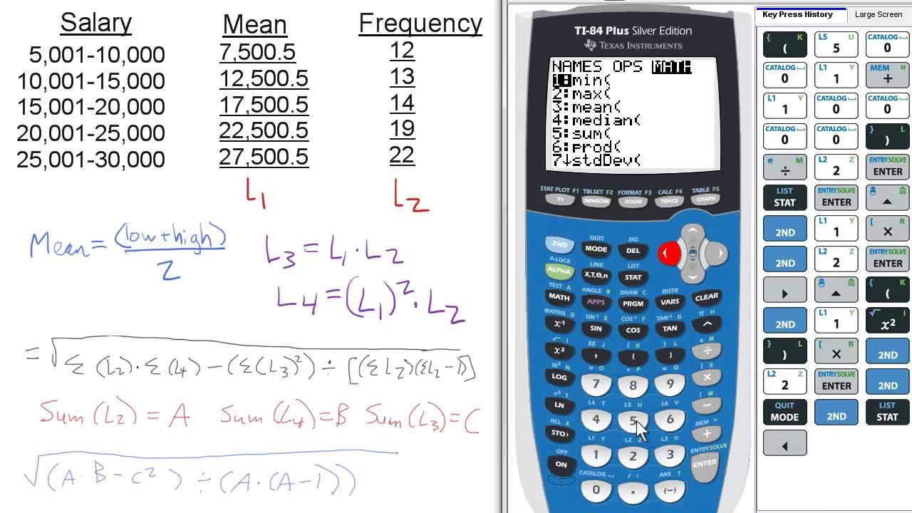 How to find standard deviation on the ti–84: 7 steps.