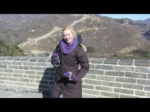 Doing Zumba on the Great Wall of China