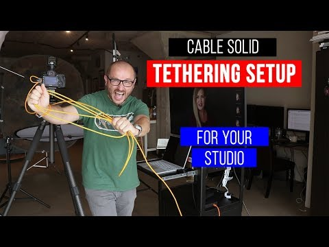 Tutorial: Solid tethering set up for your studio portrait & headshot photography