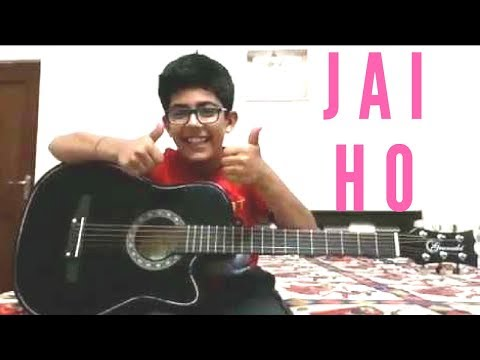 Jai Ho Song Guitar Chords by 9 Year Old