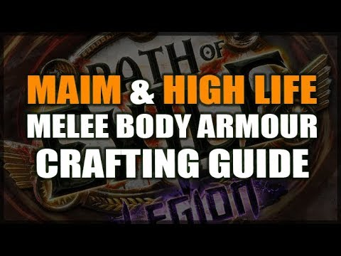 Path Of Exile 3 7 How To Craft A Big Maim Life Chest For Melee Youtube
