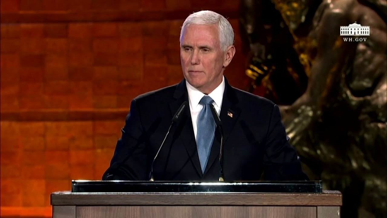 Vice President Pence attends the 2020 World Holocaust Forum - The White House