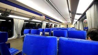 近鉄特急「伊勢志摩ライナー」車内風景 伊勢中川駅発車 Kintetsu Limited Express Ise-Nakagawa Station (2019.2)