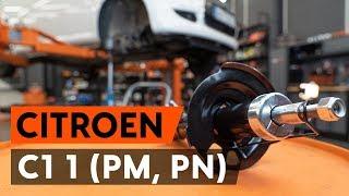 Como substituir coluna de suspensão dianteira no CITROEN C1 (PM, PN) [TUTORIAL AUTODOC]