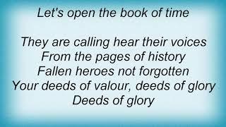 Saxon - Deeds Of Glory Lyrics